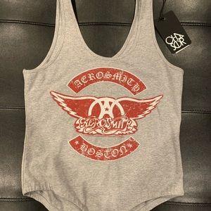 NWT Chaser Aerosmith Boston Body Suit Size Large